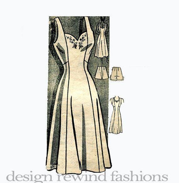 1940s Lingerie Full Slip & Tap Panties by DesignRewindFashions, $38.00