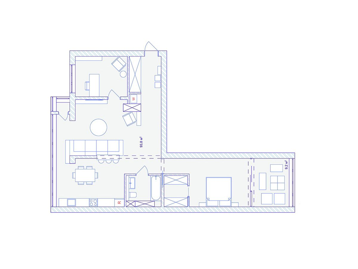 Dark Moody Bachelor Pad Design 2 Single Bedroom L Shaped Examples Includes Floor Plans In 2020 Floor Plans Bachelor Pad Pad Design
