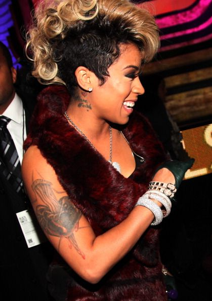 Keyshia Cole With The Low Black Sides Blonde Hawk