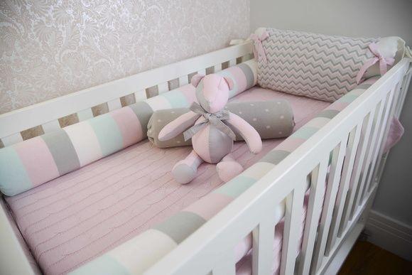 Protetor de Berço TRICÔ ISABELA   Mundo do bebe kit para quarto ...