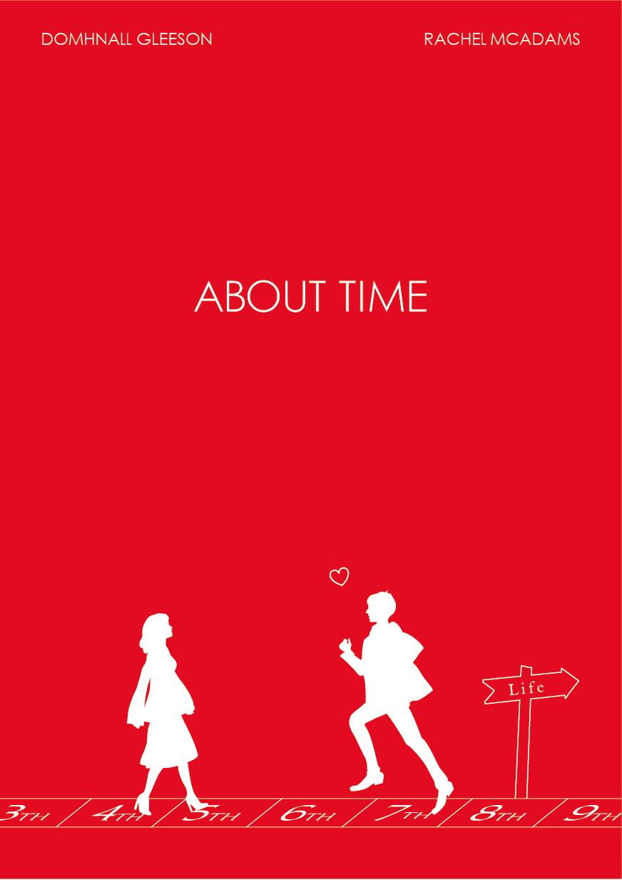 About Time Minimalism Poster Richard Curtis