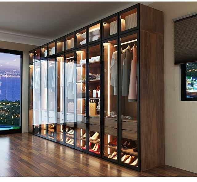 Source Hot Selling American Style Glass Door Modern Design Wardrobe on m.alibaba.com