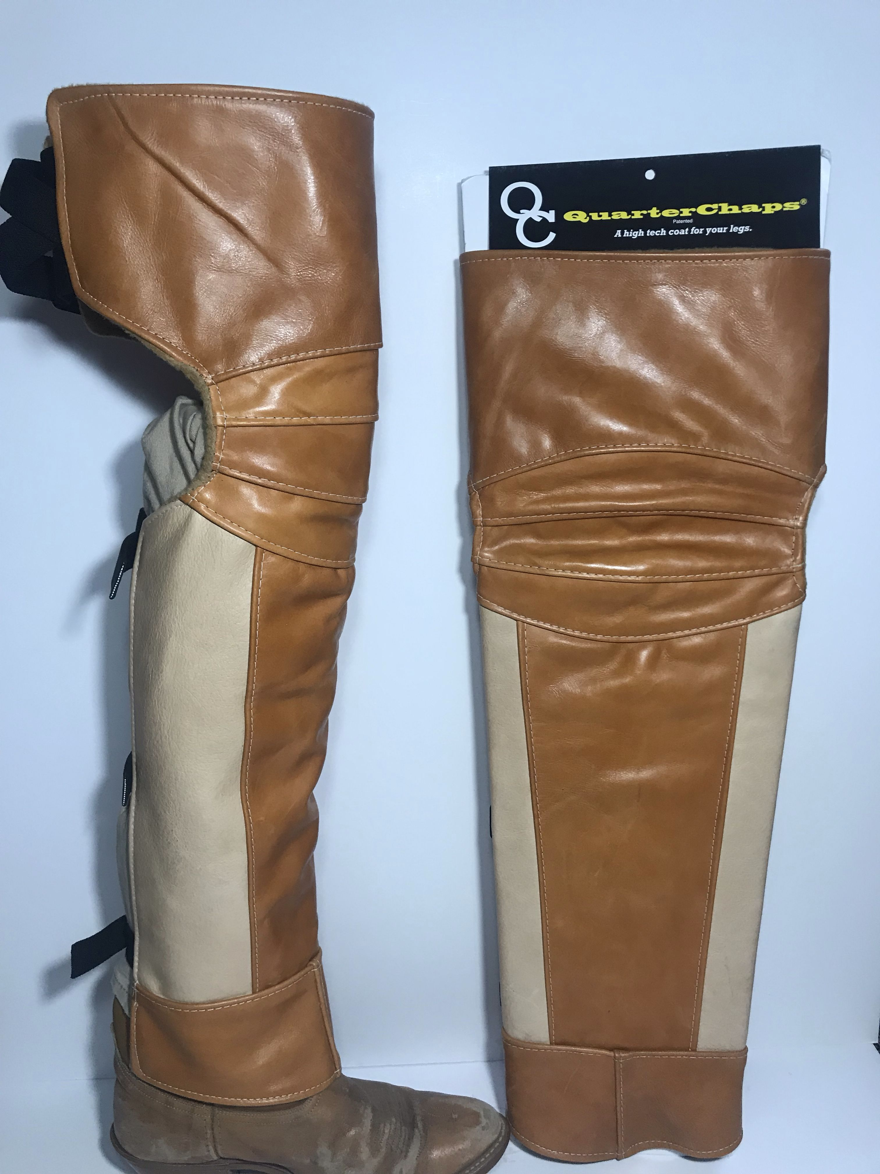 Mid thigh boot legs Horse riding boots, Cowgirl chaps