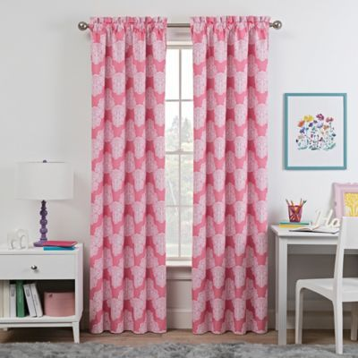 Attractive Waverly Kids Airwaves 84 Inch Rod Pocket Room Darkening Window Curtain  Panel In Pink