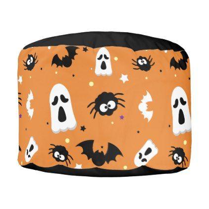 Halloween cute pattern pouf - halloween cute decorations