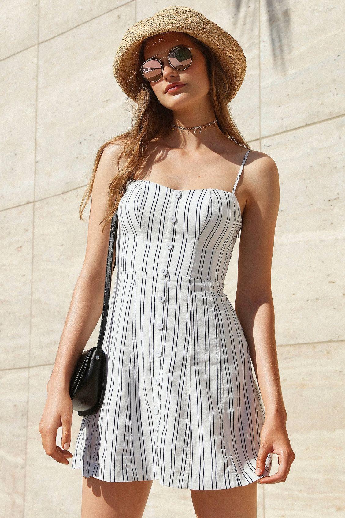 fd9600854df Kimchee Blue stripe button down dress