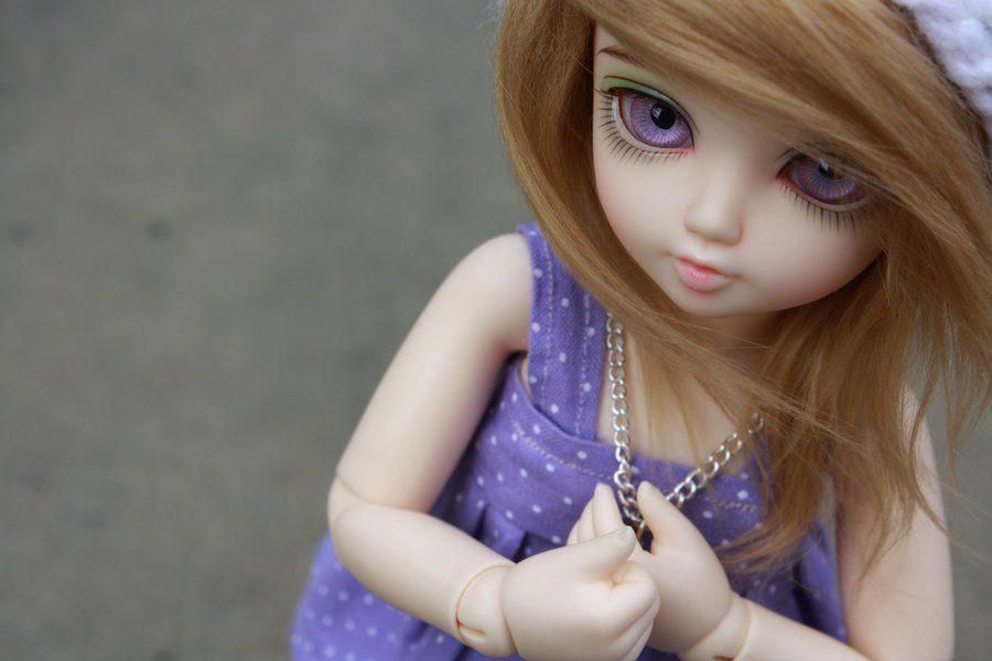 Cute Little Purple Doll With Big Eyes Rocks Wallpaper Hd Hatterek