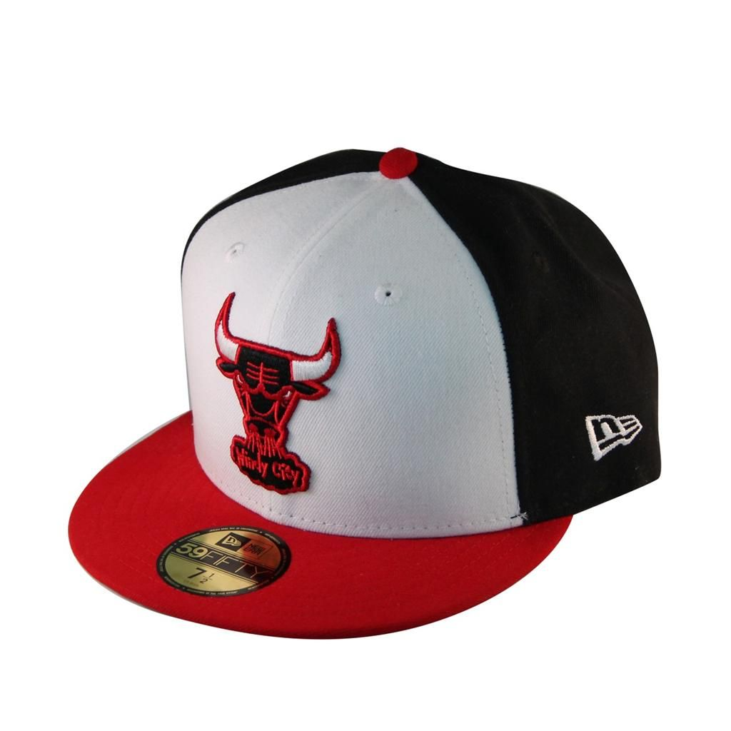 premium selection d0b32 6838f New Era 59Fifty Fitted Hat Cap White Front Red Blue Chicago Bulls Jordan  NBA  Dress  Bulls  Gift  NBA  Rose  Hat  36