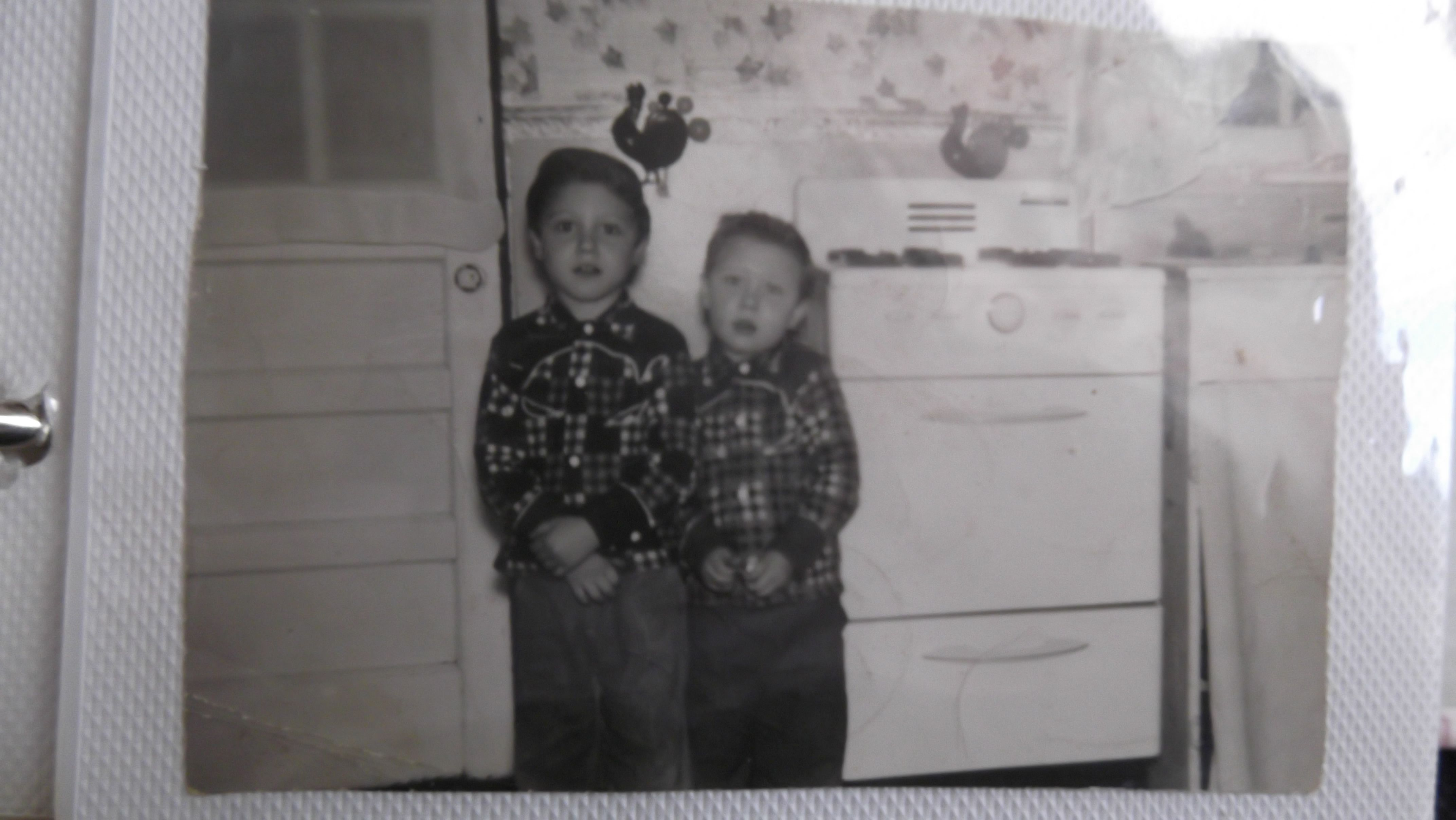 My brothers in the kitchen in the old Willow Run Village taken circa 1954