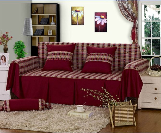 Free Shipping Pastoral Style Cotton Fabric Sofa Cover Couch