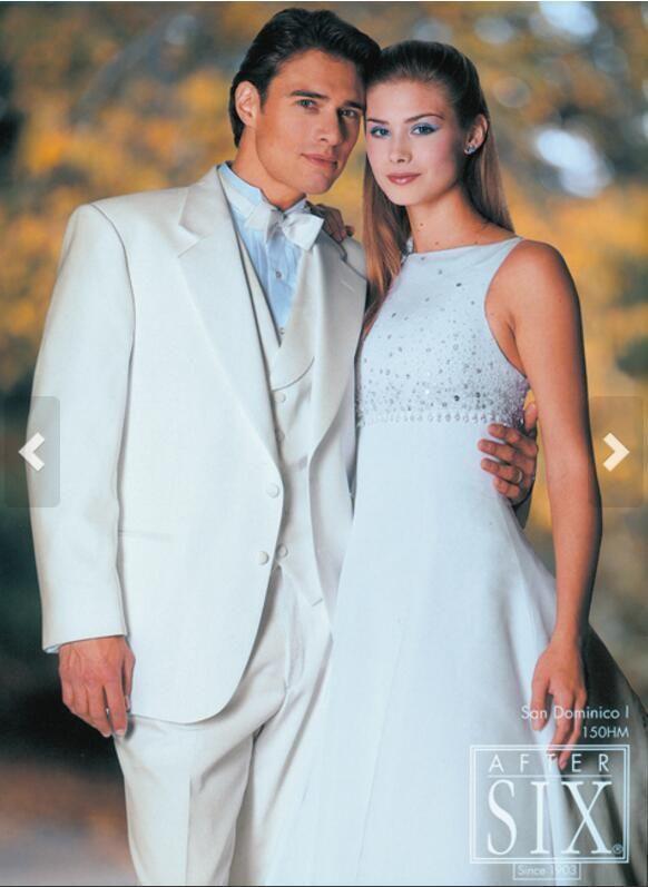 2017 Latest Coat Pant Designs Ivory Wedding Suits For Men Slim Fit ...