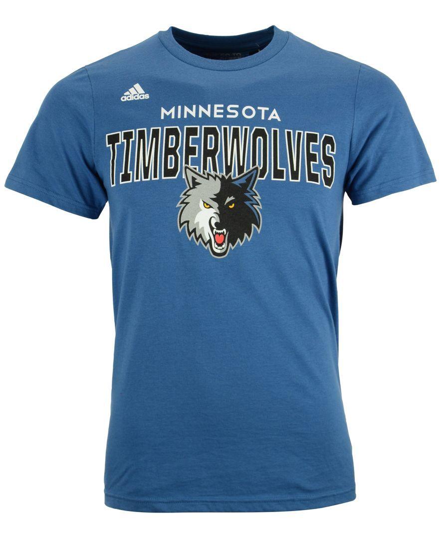 adidas Men's Short-Sleeve Minnesota Timberwolves Straight To The Hoop T-Shirt