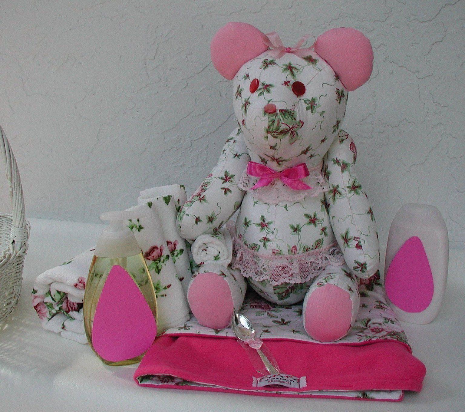 Baby shower gift baby girl gift teddy bear shower gift