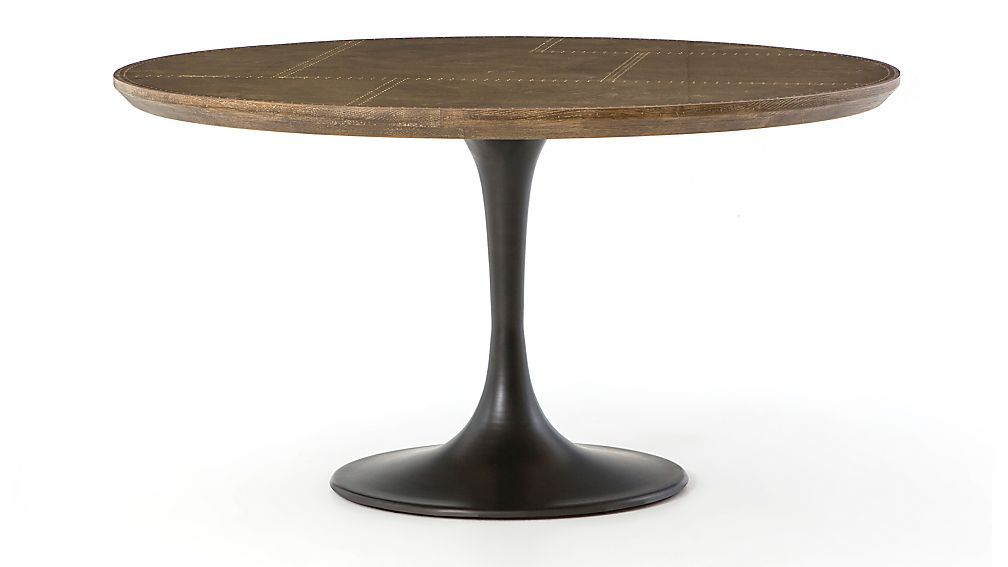 Penn Patchwork Bronze 55 Pedestal Base Dining Table Dining