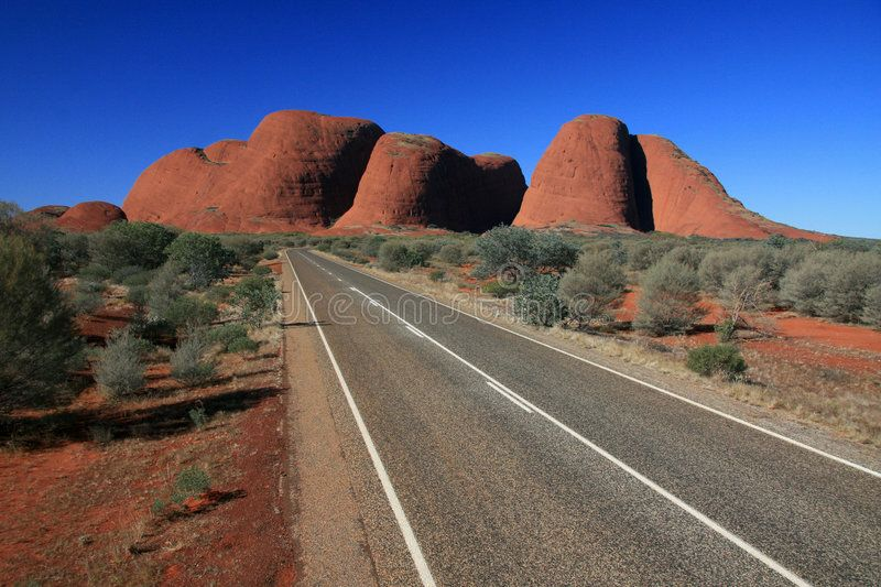 Kata Tjuta, the Olgas, Australia. Kata Tjuta, the Olgas - famous aboriginal hist ,