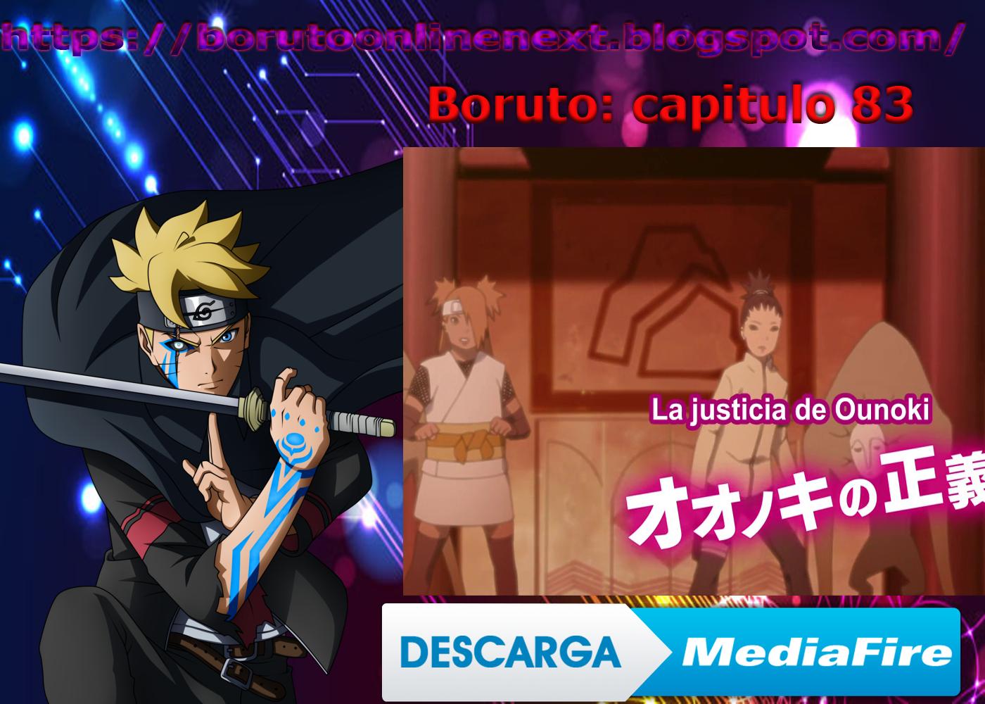 Boruto Capitulo 83 Por Mediafire Boruto Naruto Justicia