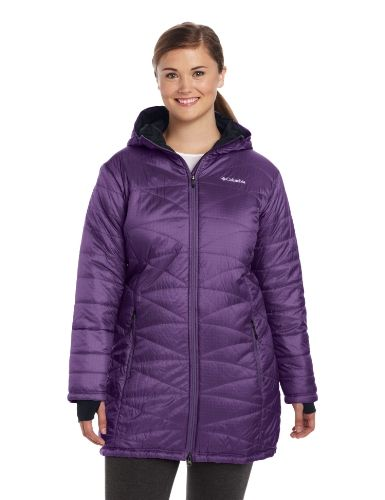 Columbia Women's Mighty Lite Hooded Jacket (Plus Size), Quill,