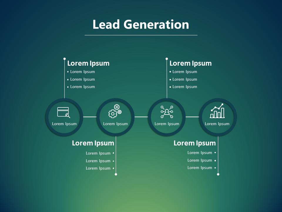 Lead Generation Slide Marketing Presentation  Business