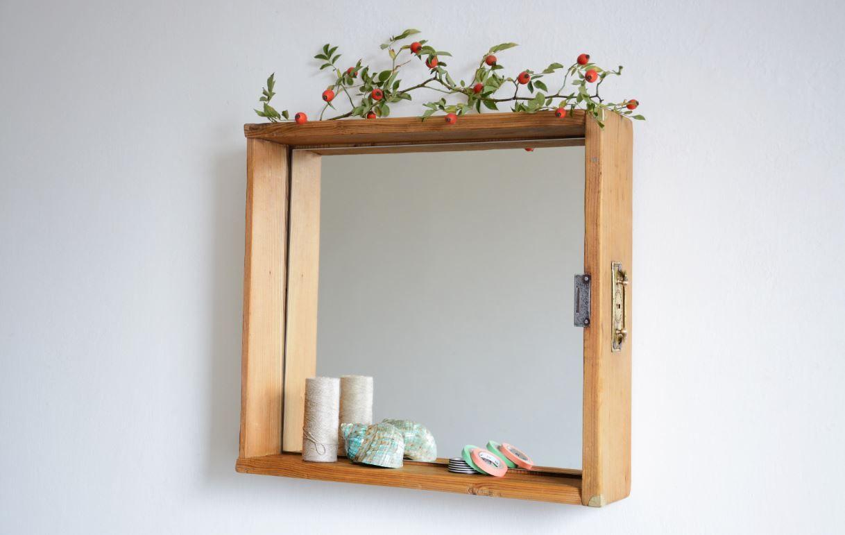 Zrcadlo v šuplíku světlé :: www.keporkakfurniture.cz