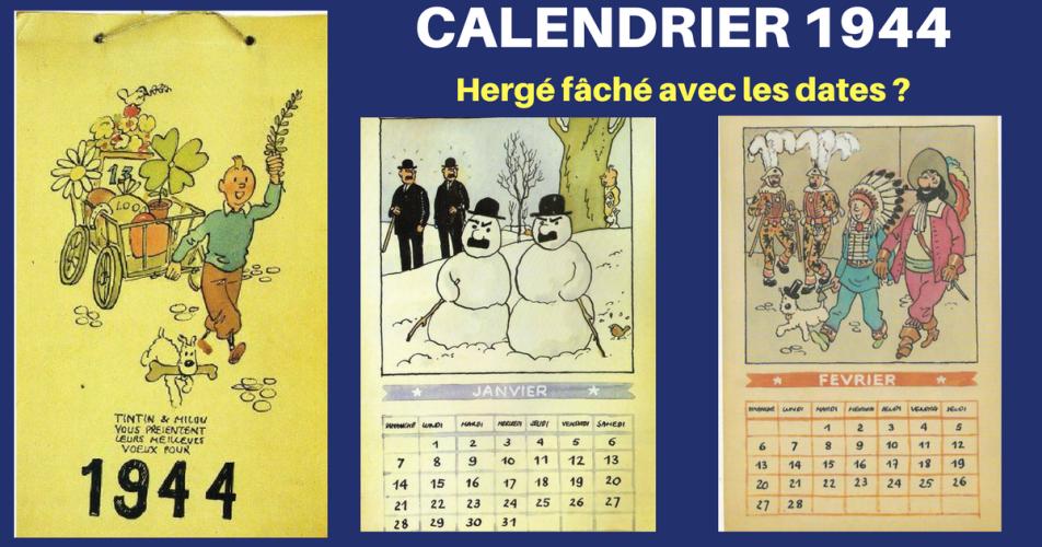 Herge Le Projet Du Calendrier 1944 Tintinomania Herge Calendrier Tintin