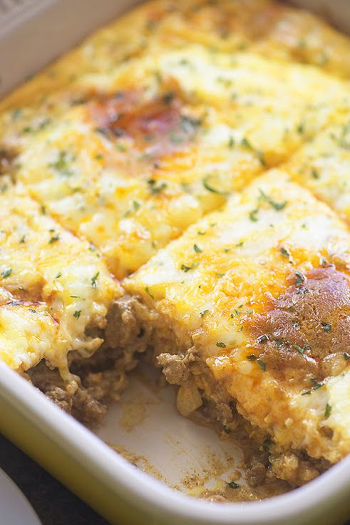 Low Carb Taco Casserole With Ground Beef Chopped Onion Jalapeno Chilies Taco Seasoning Water Crea Low Carb Keto Recipes Low Carb Casseroles Low Carb Tacos
