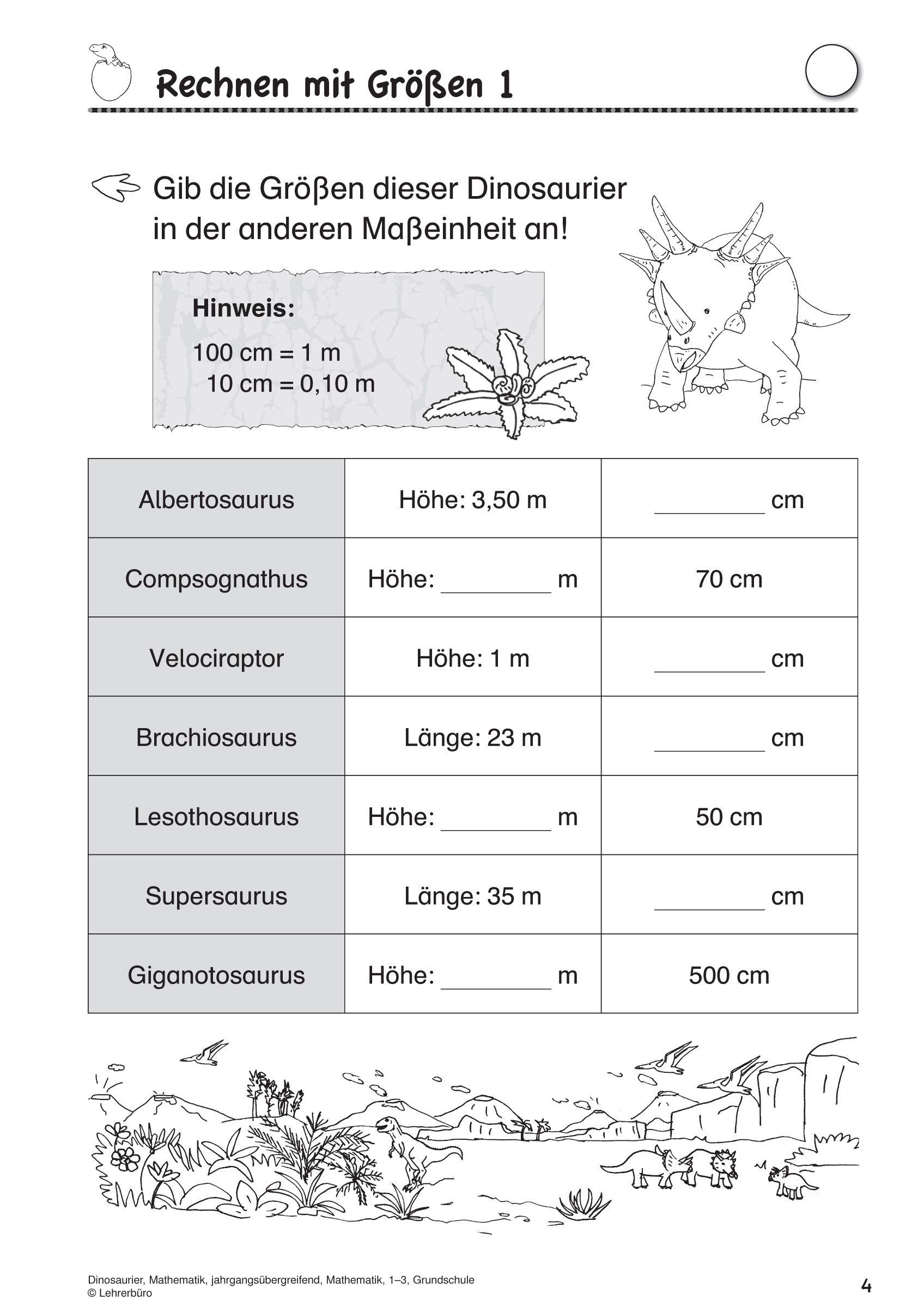 Arbeitsblatter Grundschule Lehrerburo In Dinosaurier Grundschule Arbeitsblatter Arbeitsblatter Grundschule Grundschule Lehrerburo