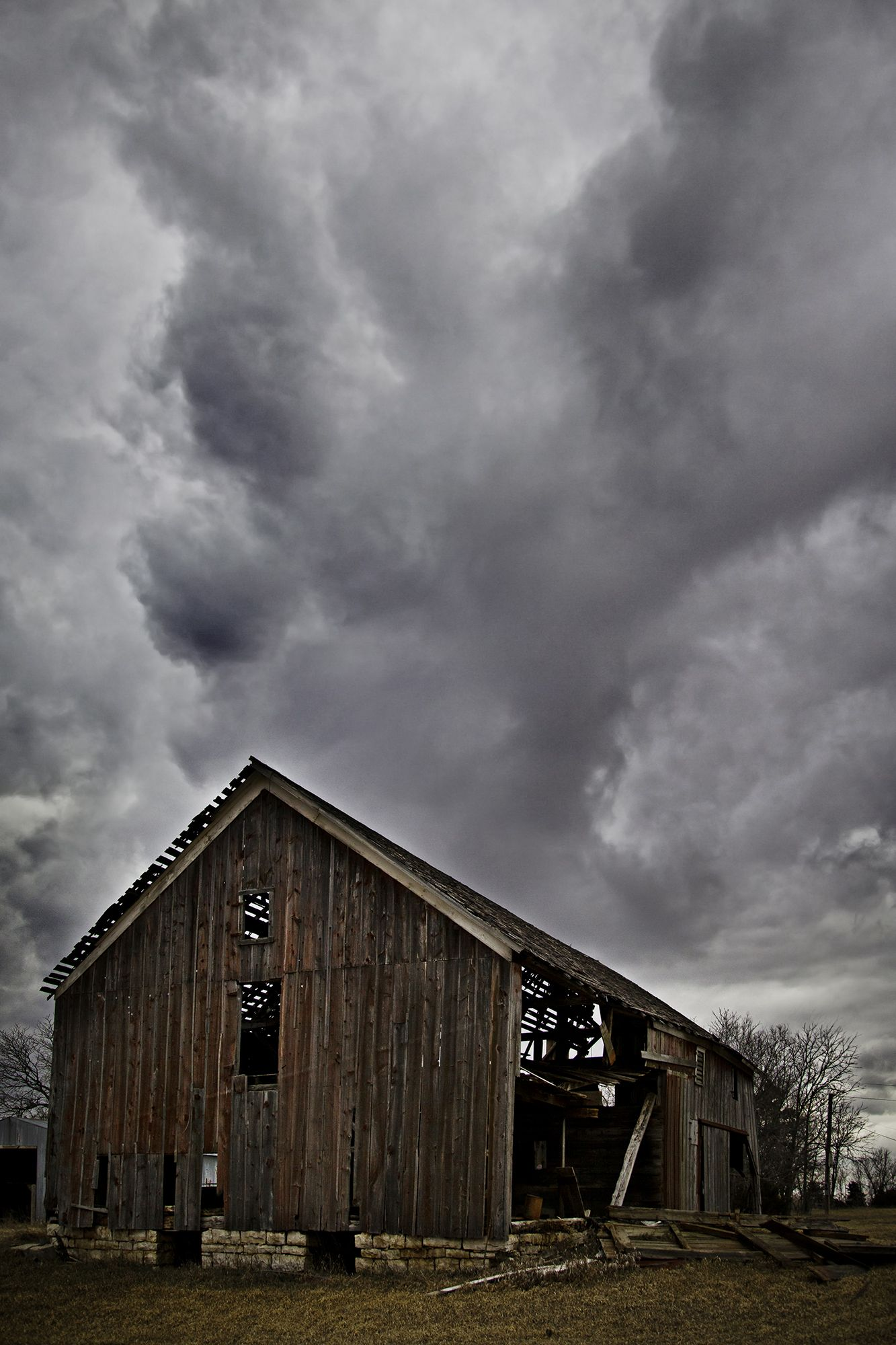 Barn Under the Storm