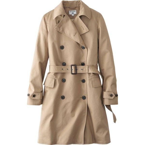 UNIQLO Women Idlf Trench Coat found on Polyvore