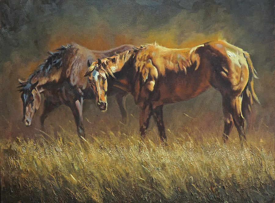 Horses Painting - Sunkissed by Mia DeLode | Horse Art...... | Pinterest