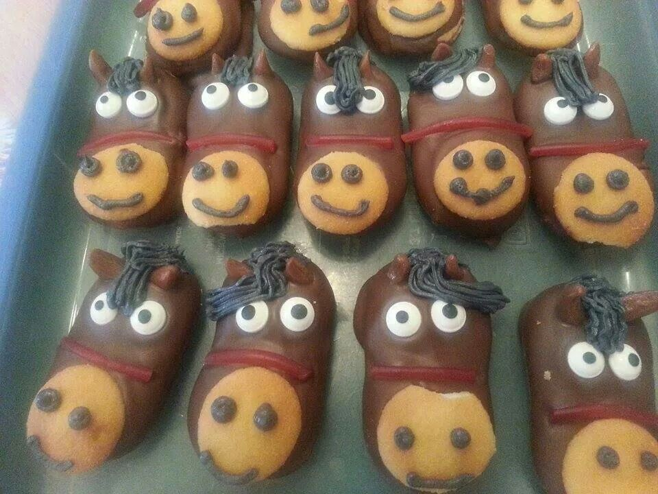 Horse cookies milano cookies dipped in chocolate a mini