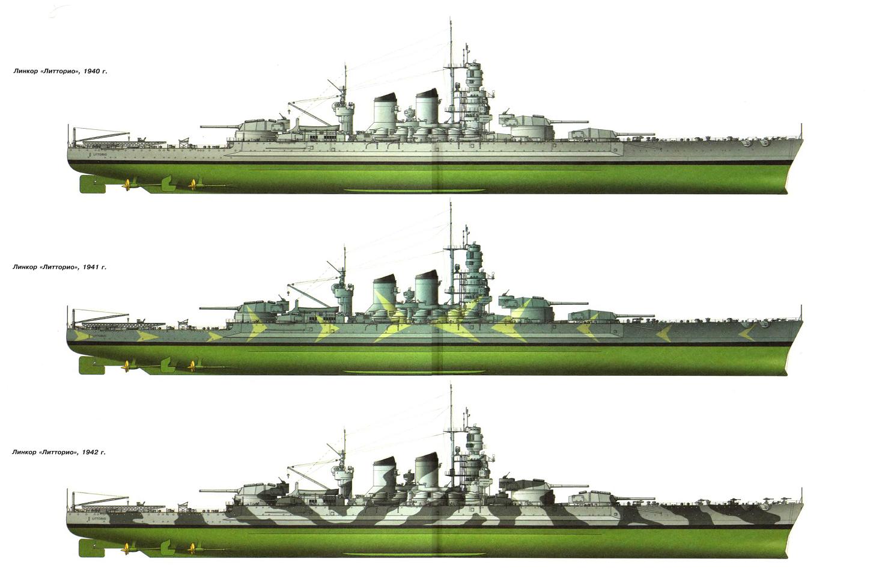 italian battleship littorio rmn italian warships 131. Black Bedroom Furniture Sets. Home Design Ideas