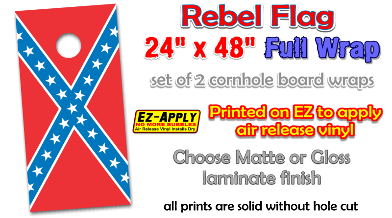Rebel Flag Cornhole Decal Wrap Httpbitlyrvinylcamowraps - Rebel flag truck decals   how to purchase and get a great value safely