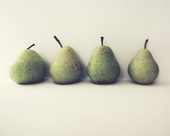 Pear Still Life Photograph Food Photography Fruit Kitchen Art Green Pears Wall Fine