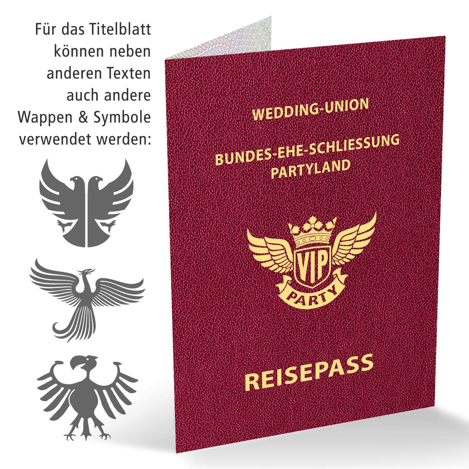 Save The Date Karte Als Reisepass Die Amtliche Legitimation Zum Aufenthalt Bei Ihrer Hochzeitsparty Mit Den Passend Einladungen Save The Date Hochzeit Party