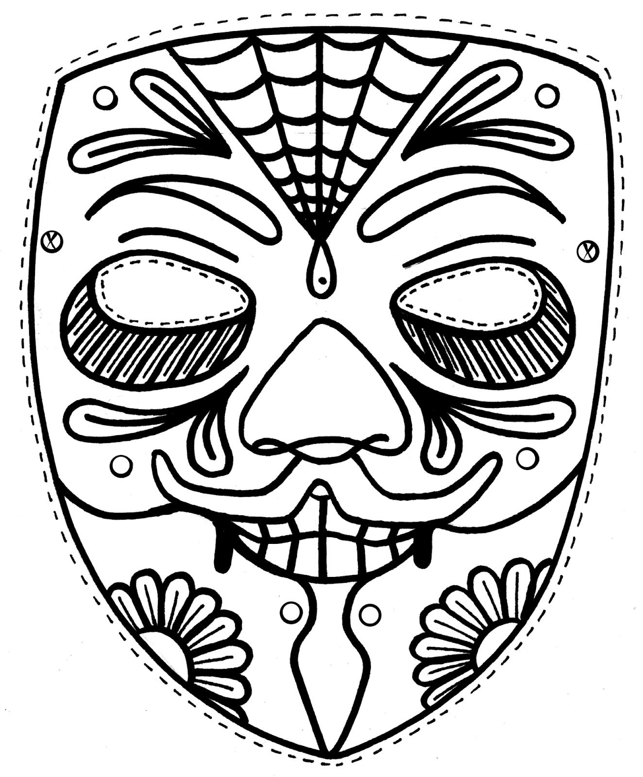 graphic relating to Printable Masks for Kids titled No cost Printable Mask Coloring Internet pages For Children pport