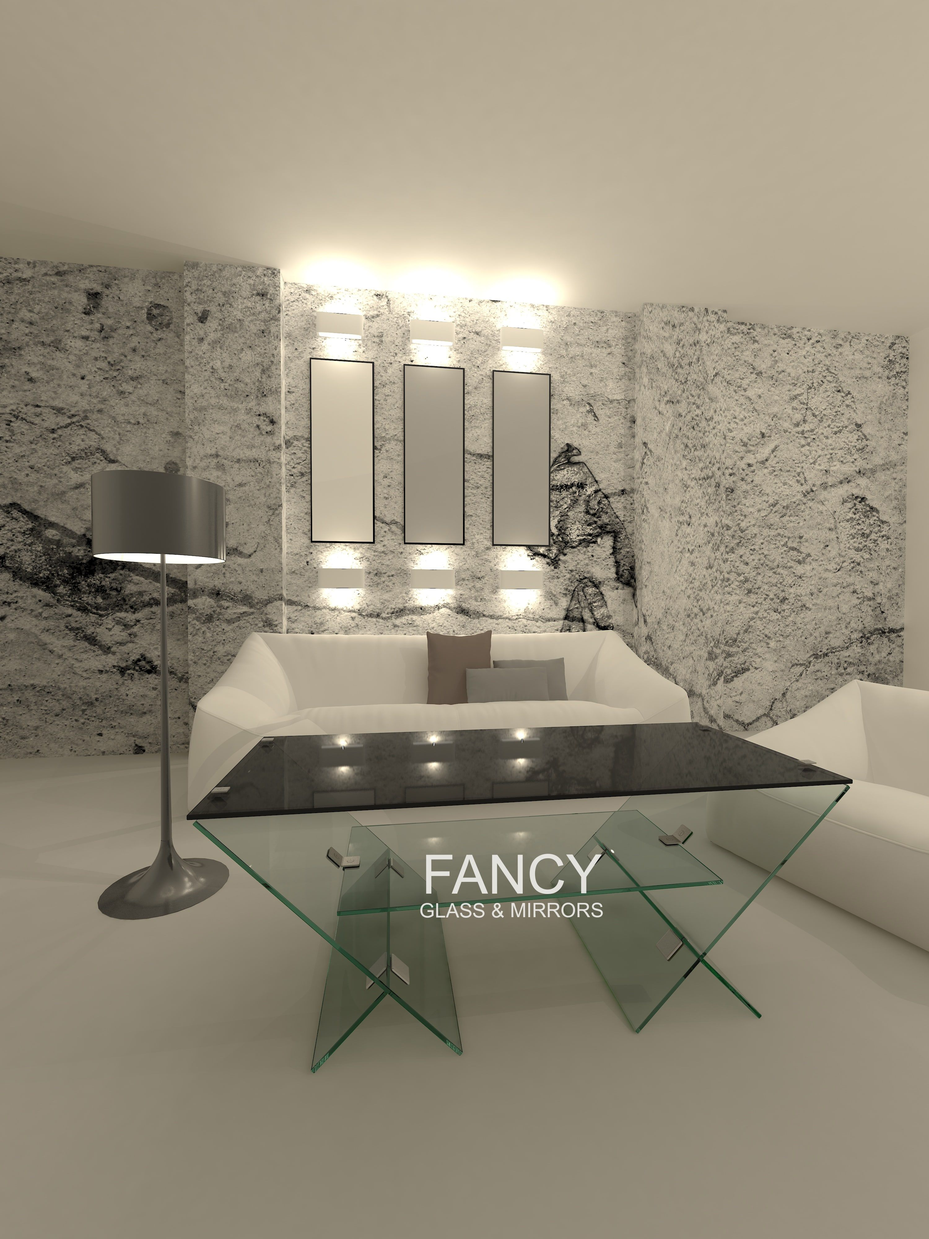 This Taranni Glass coffee Table is a sophisticated glass