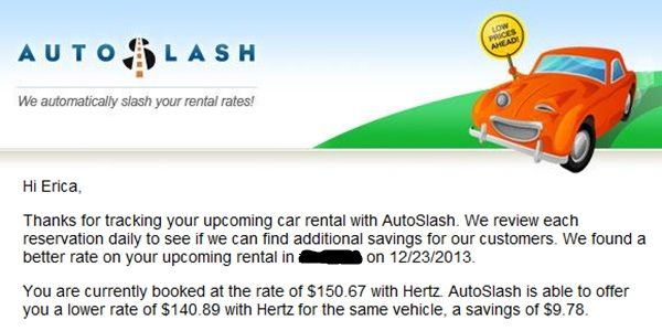 AUTOSLASH tracks your car rental and finds you better deals. Save money on your next car rental!