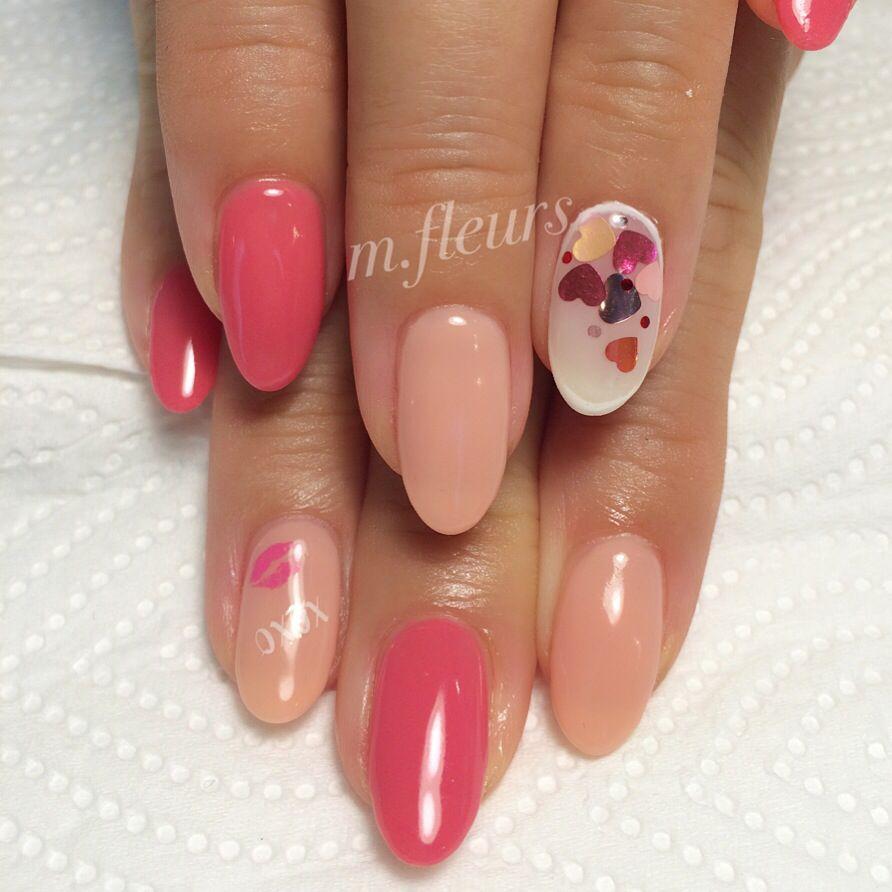 【Lovely ValemtineNail】  xoxo  #ValentineNail  #Pink #xoxo #LovelyNail #NailDesign #NailArt #箕面 #北摂 #NailSalon #Mfleurs #NailArtist #Mayu #네일 #네일아트 #美甲 #美甲師