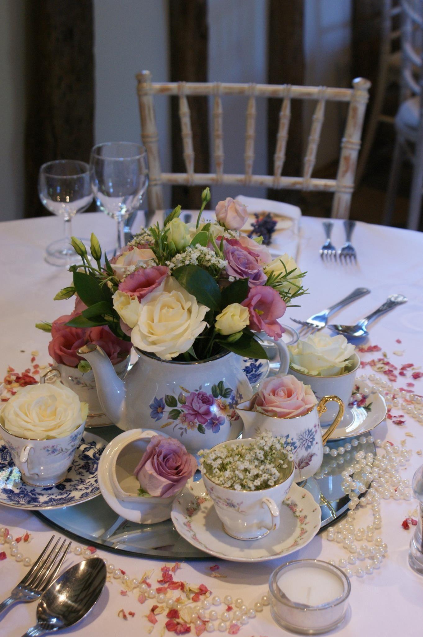 The Teacup Arrangement You Liked X Vintage Tea Parties Tea Party Centerpieces Tea Party Table
