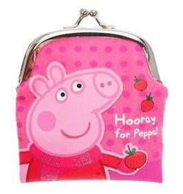 DISNEY Pink Peppa Pig AROUND Clip On Girls Purse Wallet Coin