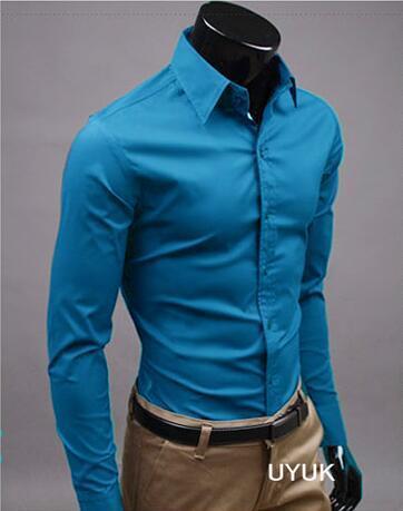 UUYUK Men Casual Button Up Linen Embroidery Short Sleeve Mandarin Collar Shirts