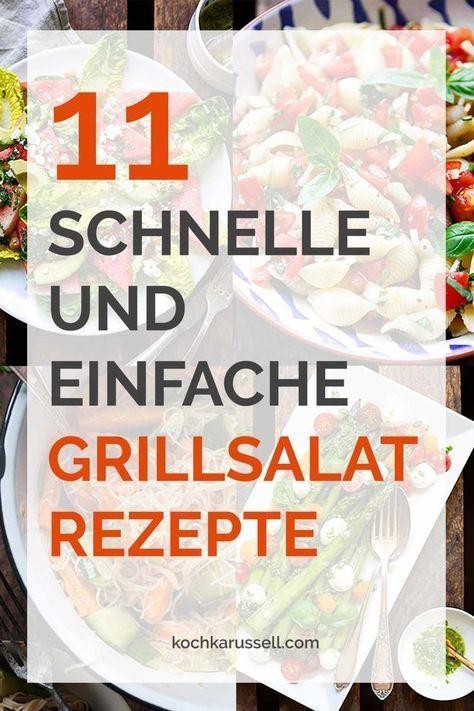 11 schnelle und einfache Grillsalat-Rezepte - Kochkarussell #vegetariangrilling