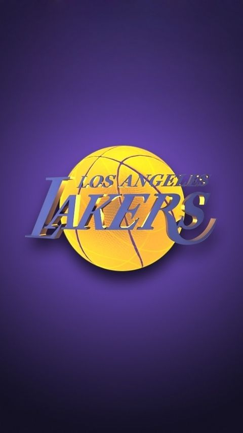 Nba Los Angeles Lakers Team Logo Purple Background Hd For Iphone 5 Lakers Team Lakers Wallpaper Los Angeles Lakers
