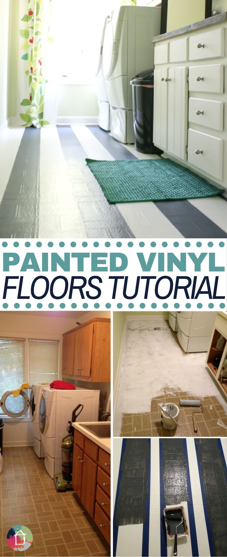Learn how to paint vinyl floors for long lasting results painted learn how to paint vinyl floors with this full tutorial doublecrazyfo Choice Image