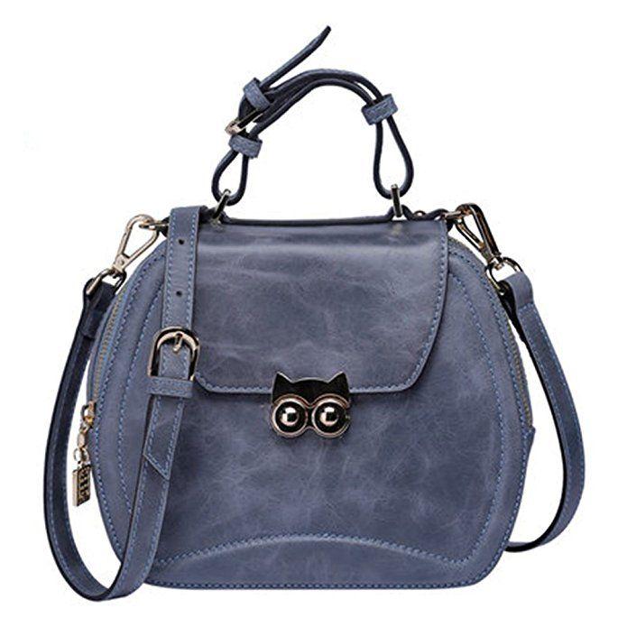 Poyato Luxurious Vintage leather shoulder bag Fashion Retro shoulder bag Causal Women's Handbag (Black): Handbags: Amazon.com