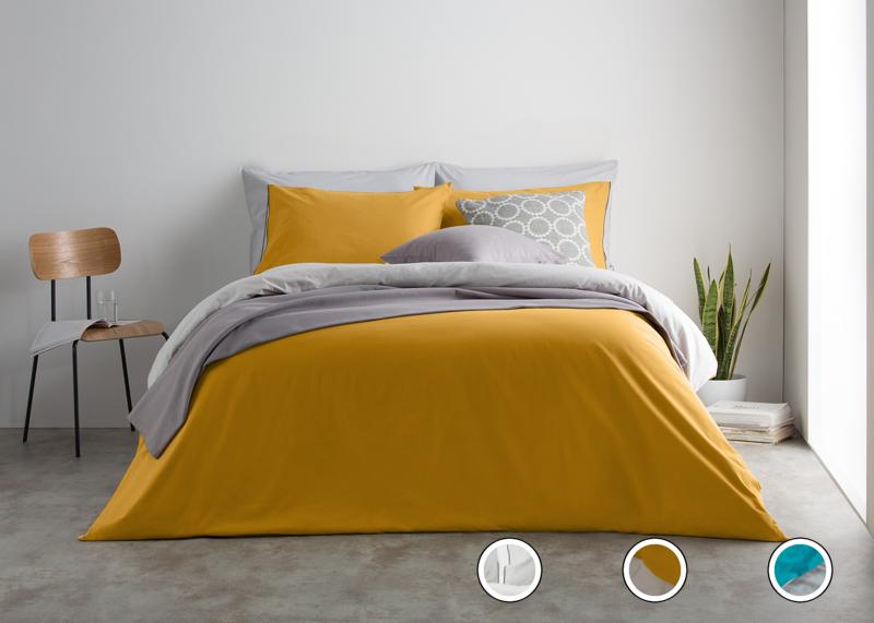 2f38de55066 Solar 100% Cotton Reversible Double Bed Set