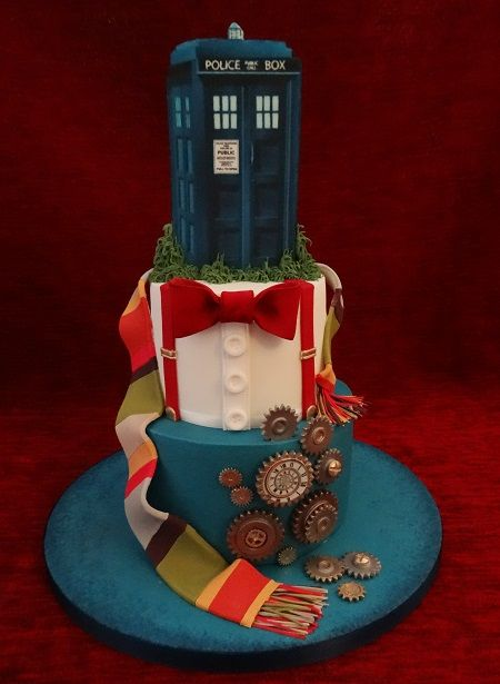 Dr Who Celebration Birthday Cake Top Nosh Cakes topnoshcakescouk
