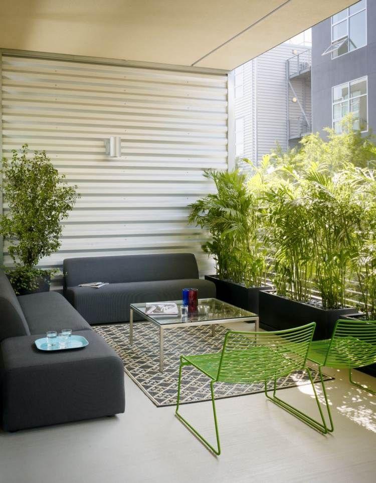 brise vue balcon plantes et paravents en bambou plus intimit appart balcon deco. Black Bedroom Furniture Sets. Home Design Ideas
