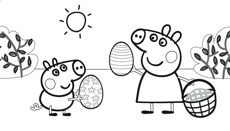 Peppa Pig Easter Coloring Pages Peppa Pig Coloring Pages Peppa Pig Colouring Easter Coloring Pages
