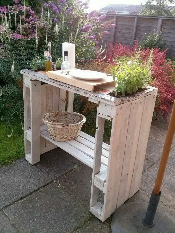 hochtisch deko pinterest pallets gardens and pallet projects. Black Bedroom Furniture Sets. Home Design Ideas